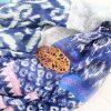 ダイソー¥300のスカーフ・べっこう調バレッタ・ガーデニング用手袋
