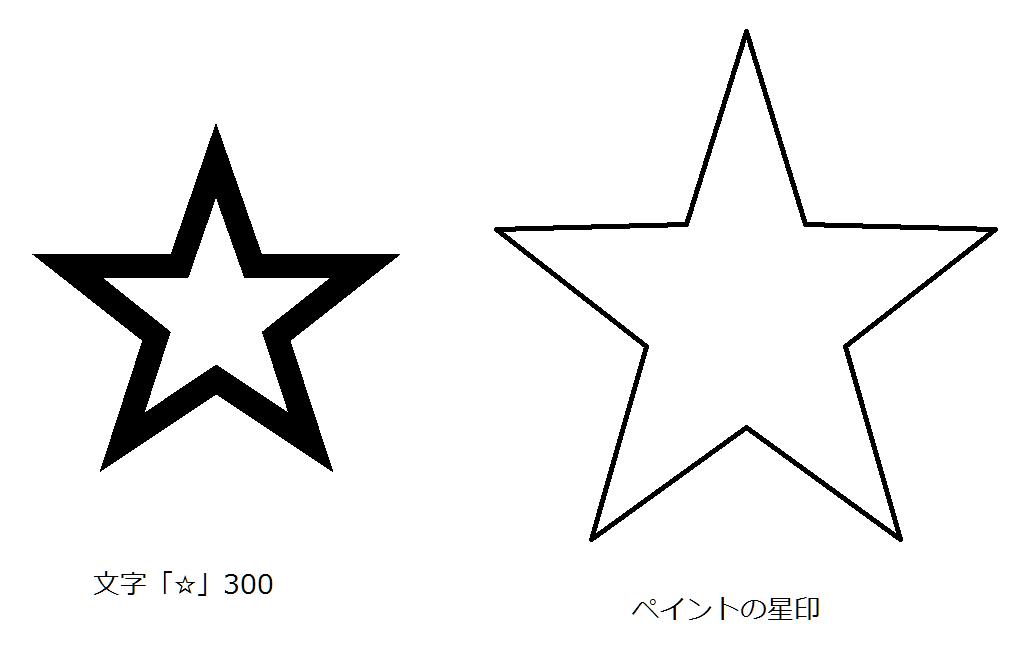 きれいな星型 書き方